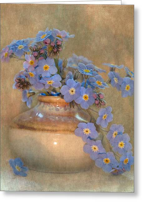 Forget Me Not Bouquet Greeting Card by Angie Vogel