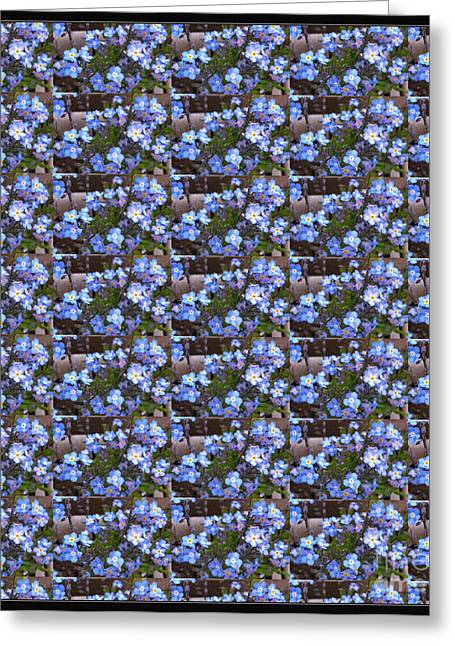 Blue Flowers Tapestries - Textiles Greeting Cards - Forget Me Not Flowers Greeting Card by Barbara Griffin