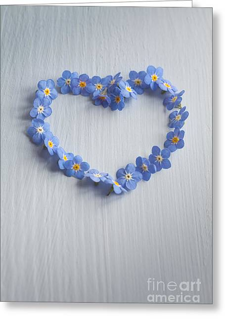 """forget Me Not"" Greeting Cards - Forget Me Not Heart Greeting Card by Jan Bickerton"