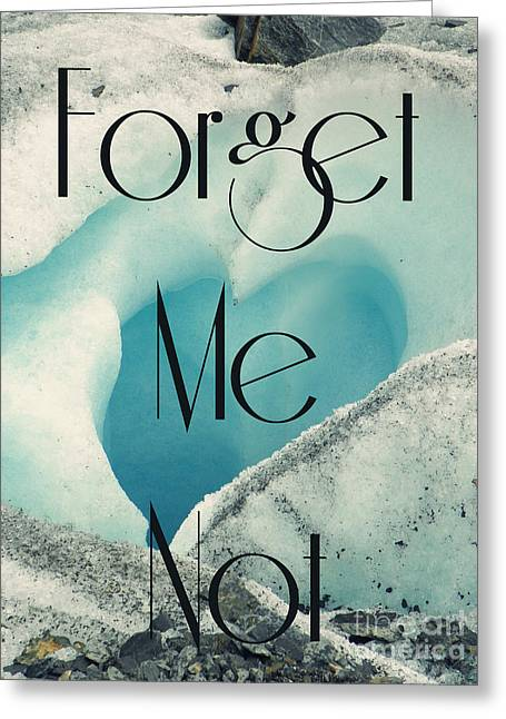 Forgotten Mixed Media Greeting Cards - Forget Me Not Greeting Card by Jennifer Kimberly