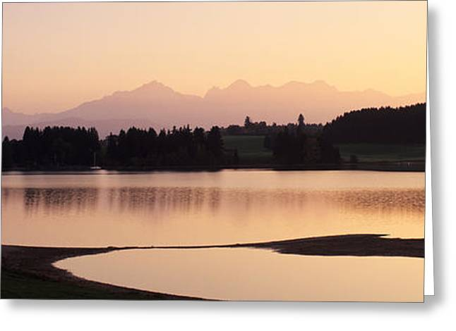European Alps Greeting Cards - Forggensee Lake And Allgau Alps Greeting Card by Panoramic Images
