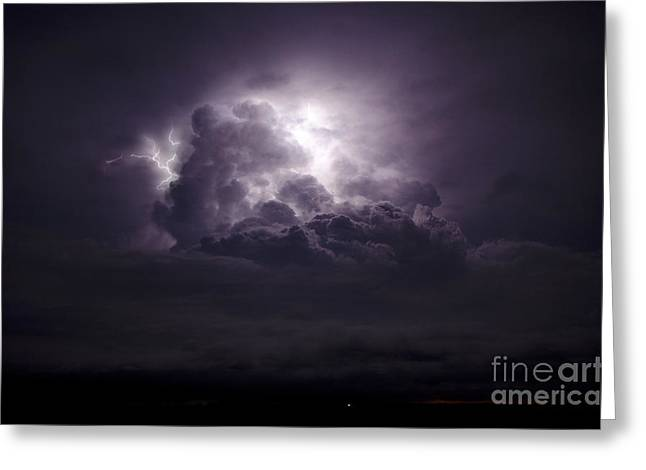 Lightning Photographer Greeting Cards - Forging The Heavens Greeting Card by Ryan Smith