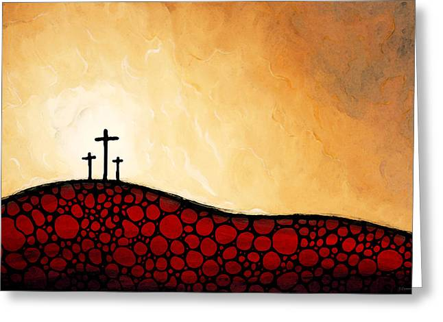 The Church Mixed Media Greeting Cards - Forgiven - Christian Art By Sharon Cummings Greeting Card by Sharon Cummings
