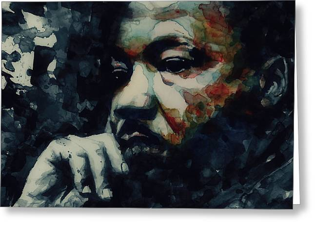 Civil Rights Paintings Greeting Cards - Forgiveness Is Not An Occasional Act It Is A Constant Attitude Greeting Card by Paul Lovering