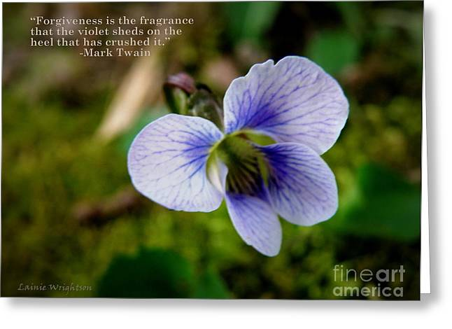 Mark Twain Quote Greeting Cards - Forgiveness Greeting Card by Lainie Wrightson