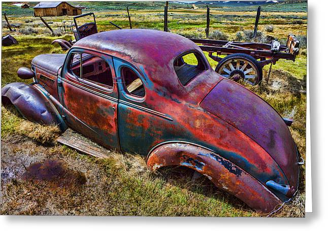 Forgotten Cars Greeting Cards - Forgoten Auto Greeting Card by Garry Gay