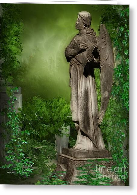 Reception Greeting Cards - Forgotten Angel Greeting Card by Cheryl Young