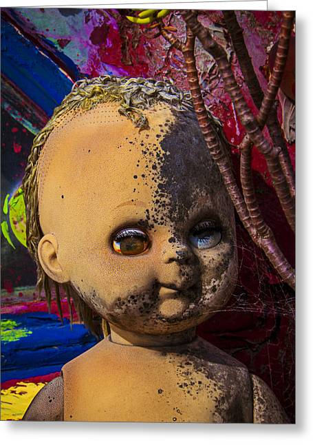 Fungi Photographs Greeting Cards - Forgotten baby doll Greeting Card by Garry Gay