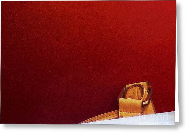 Clutch Bag Greeting Cards - Forgotten Bag Greeting Card by Bruce Tubman
