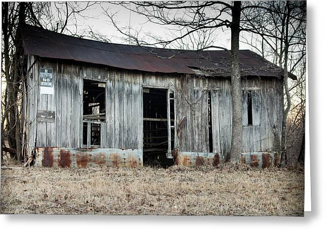 Metal Sheet Greeting Cards - Forgotten Barn 2 Greeting Card by Jamie Heeke