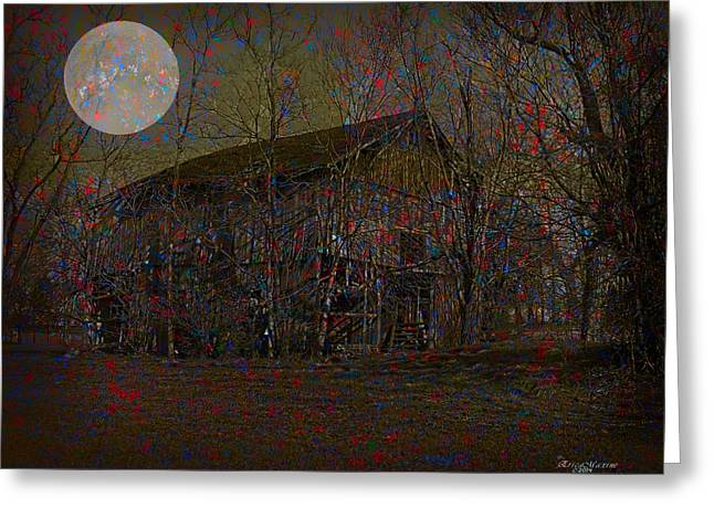 Tennessee Barn Digital Art Greeting Cards - Forgotten Barn Greeting Card by EricaMaxine  Price