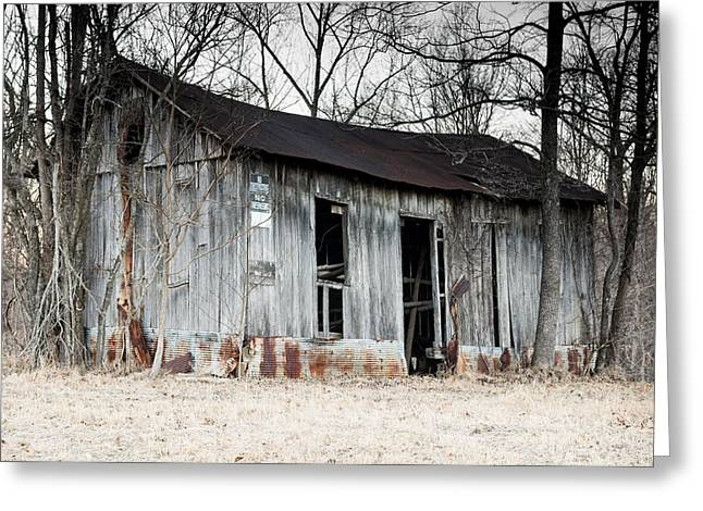 Metal Sheet Greeting Cards - Forgotten Barn Greeting Card by Jamie Heeke