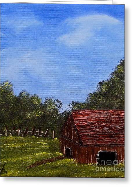 Forgotten Barn Greeting Card by Nature's Effects - Heather Seward
