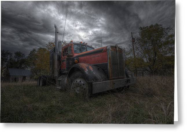 Fall Colors Greeting Cards - Forgotten Big Rig 2014 Greeting Card by Aaron J Groen