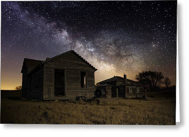 Milky Way Photographs Greeting Cards - Forgotten by the Cosmos Greeting Card by Aaron J Groen