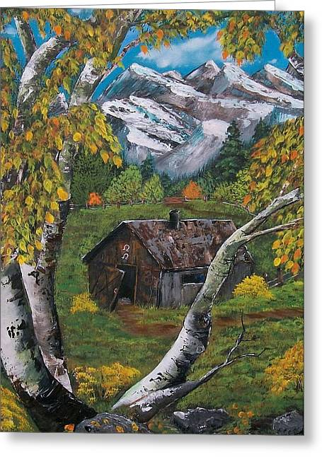 Log Cabins Greeting Cards - Forgotten Cabin  Greeting Card by Sharon Duguay