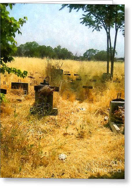 Overgrown Mixed Media Greeting Cards - Forgotten Cemetery Greeting Card by John Kreiter