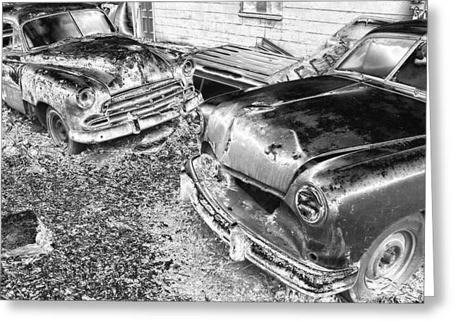Forgotten Cars Greeting Cards - Forgotten Classics Greeting Card by Karol  Livote
