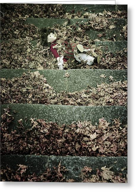 Discarded Greeting Cards - Forgotten Doll Greeting Card by Joana Kruse