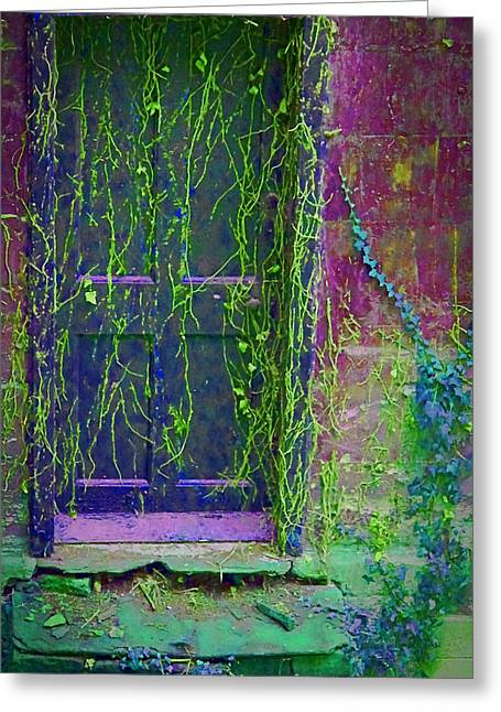 Forgotten Digital Greeting Cards - Forgotten doorway Greeting Card by Tony Grider