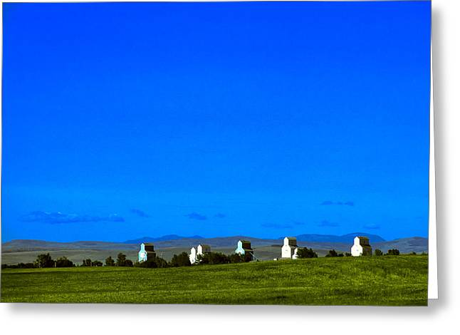 Alberta Foothills Landscape Greeting Cards - Forgotten Elevators Greeting Card by Roderick Bley