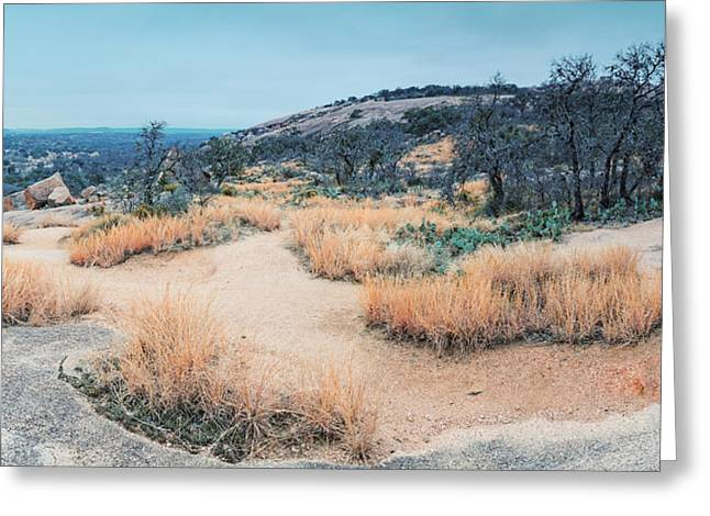 Blustery Greeting Cards - Forgotten - Enchanted Rock Texas Hill Country Greeting Card by Silvio Ligutti