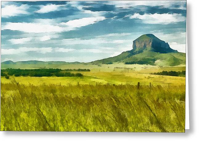 Back Country Greeting Cards - Forgotten Fields Greeting Card by Ayse Deniz