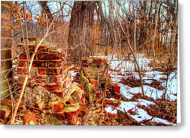 Forgotten Fire Greeting Card by Mark Pearson