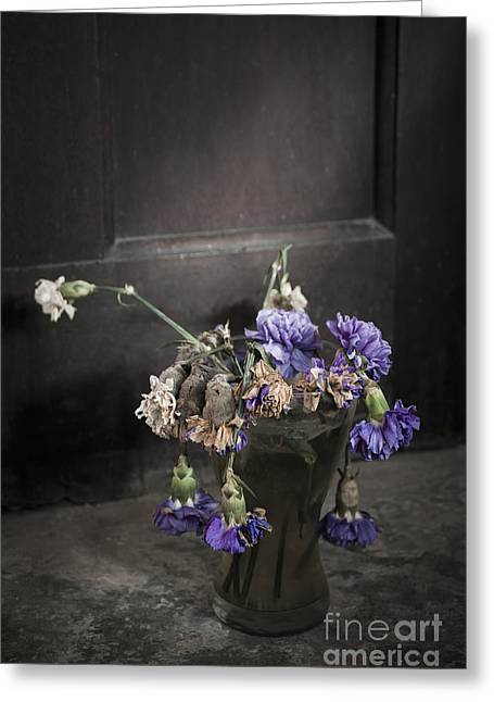 Dead Mixed Media Greeting Cards - Forgotten Flowers Greeting Card by Svetlana Sewell