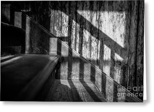 Shadowplay Greeting Cards - Forgotten Footsteps Greeting Card by Dean Harte