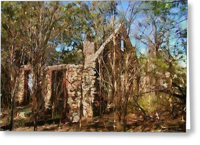 Ruin Greeting Cards - Forgotten Greeting Card by Jeff Kolker
