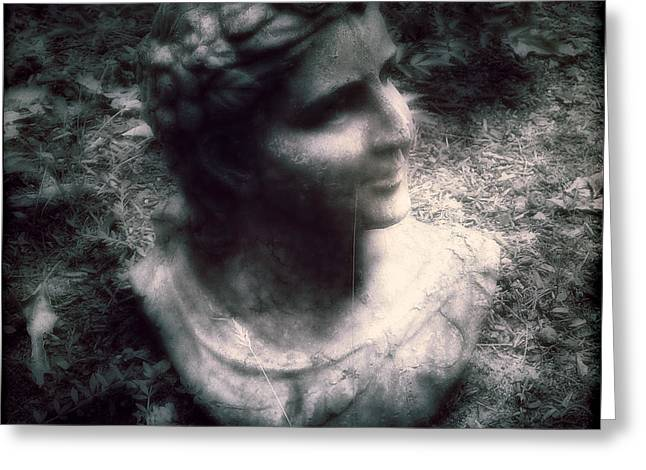 Garden Statuary Greeting Cards - Forgotten Greeting Card by Louise Kumpf