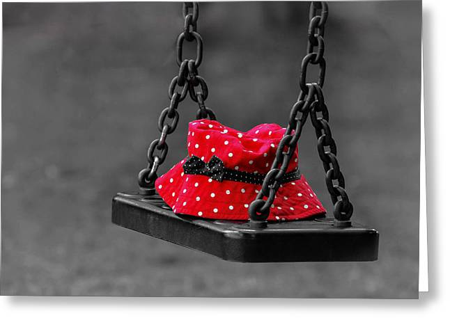 Swingset Greeting Cards - Forgotten Memories Greeting Card by Mountain Dreams