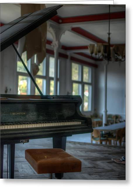 Haunted House Digital Greeting Cards - Forgotten Music Greeting Card by Nathan Wright