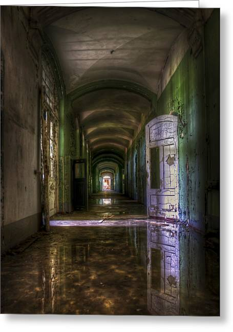 Creepy Digital Art Greeting Cards - Forgotten reflections Greeting Card by Nathan Wright