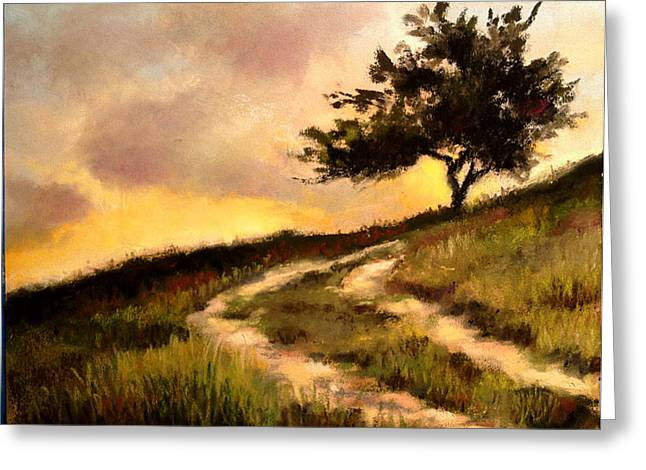Hills Pastels Greeting Cards - Forgotten Road Greeting Card by Susan Jenkins