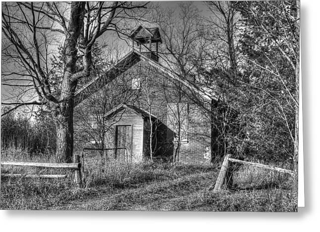 Abandoned School House. Greeting Cards - Forgotten School House Greeting Card by Richard Couper