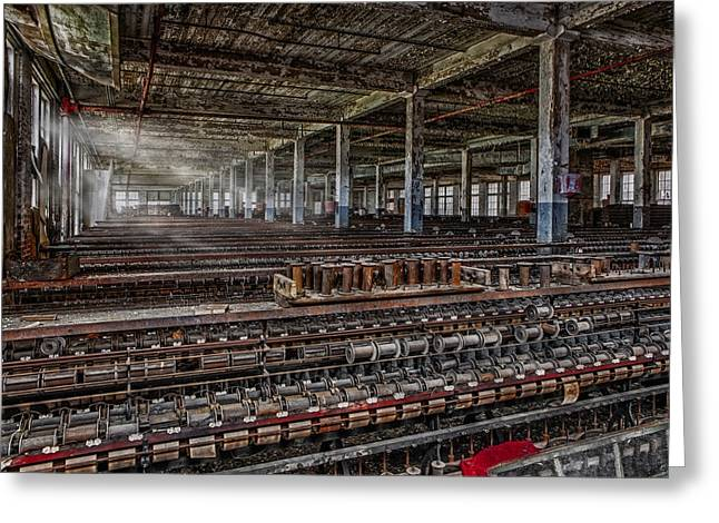 Tools Greeting Cards - Forgotten Silk Mill Greeting Card by Susan Candelario