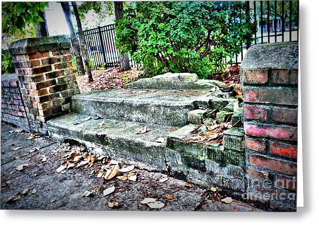 Replacing Greeting Cards - Forgotten Steps Greeting Card by Anthony Ackerman