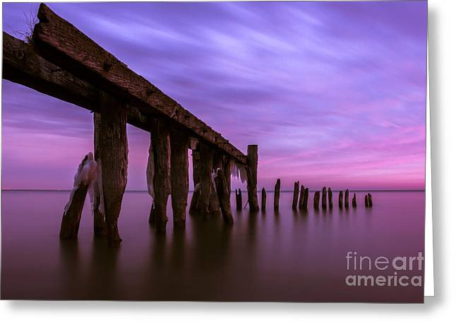 Pink Pastels Greeting Cards - Forgotten Sunrise Greeting Card by Matt  Trimble