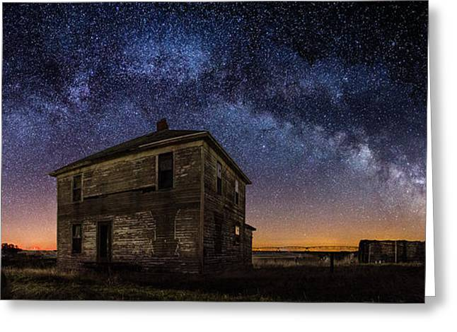 Rift Greeting Cards - Forgotten under the Stars  Greeting Card by Aaron J Groen