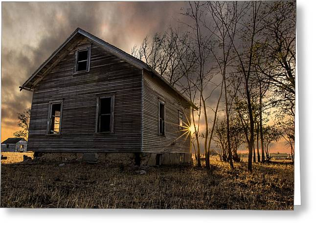 Abandoned Houses Photographs Greeting Cards - Forgotten V Greeting Card by Aaron J Groen