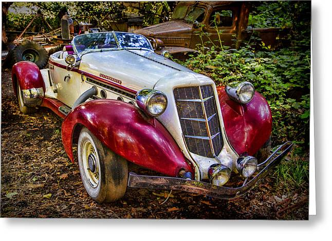 Forgotten Cars Greeting Cards - Forgotton Auburn Greeting Card by Garry Gay
