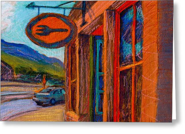 Mountain Road Greeting Cards - Fork Greeting Card by Athena Mantle