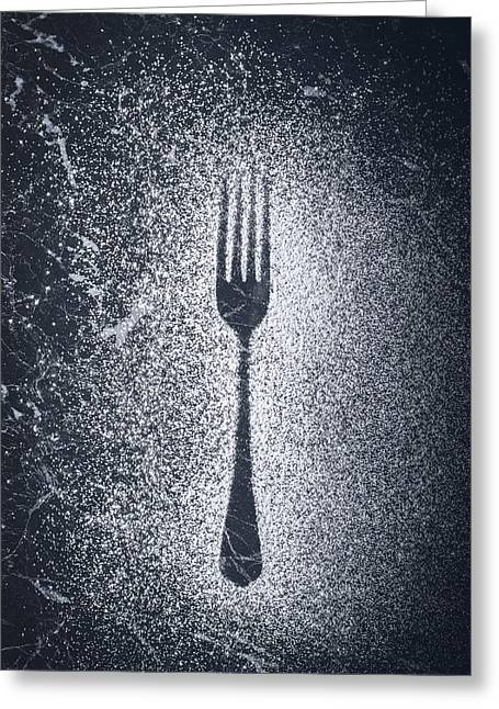 Icing Sugar Greeting Cards - Fork Greeting Card by Amanda And Christopher Elwell