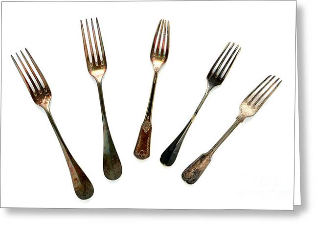 Forks Greeting Cards - Forks Greeting Card by Olivier Le Queinec