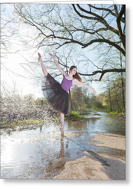 Ballet Dancers Photographs Greeting Cards - Form Greeting Card by Ryan Crane