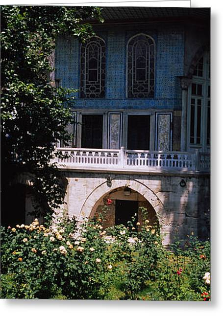 Baghdad Greeting Cards - Formal Garden In Front Of A Building Greeting Card by Panoramic Images