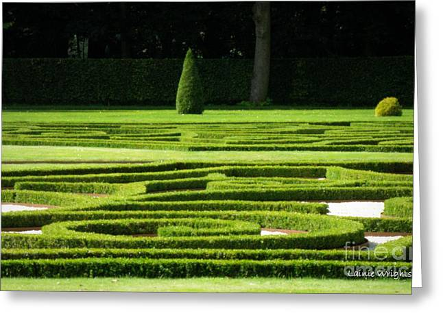 Formal Gardens Haar Castle Greeting Card by Lainie Wrightson