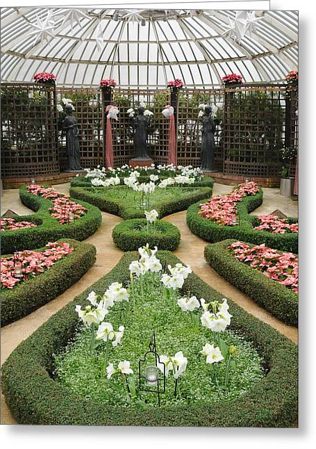 Phipps Conservatory Greeting Cards - Formal Gardens Phipps Conservatory Greeting Card by Cyril Furlan